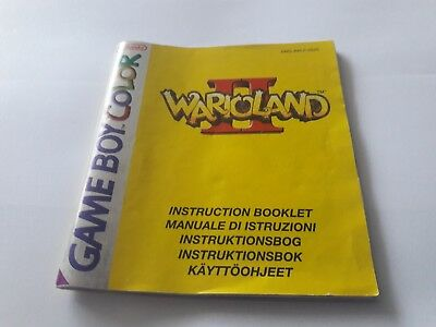 Wario Land II (2) - Game Boy Color GBC Instruction Manual booklet