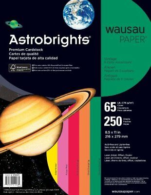 "Astrobrights Card Stock - For Inkjet, Inkjet Print - Letter - 8.50"" X 11"" - 65"