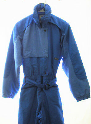 WOMENS 6 (S) COLMAR Vintage Insulated Blue 1 pc Ski Suit Jacket Pants