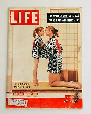 "1955 Life Magazine, May 16th ""The Kentucky Derby Spectacle"" ""Spring Birds"" by Ei"