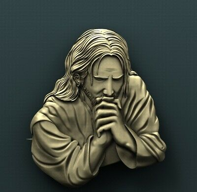 3d STL Model Relief for CNC Router Aspire _ (0243) Jesus