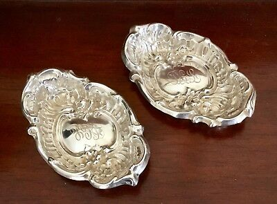 Two Small Vintage Sterling Silver Dishes Trinket Trays