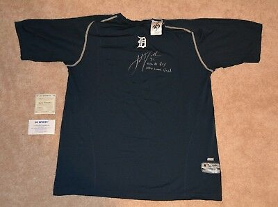 e088f3148a4 2006 JUSTIN VERLANDER GAME USED ROOKIE SHIRT!!!!! Signed WITH COA ...