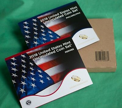 2018 ANNUAL US Mint Uncirculated Coin Set with 20 P and D Coins Complete