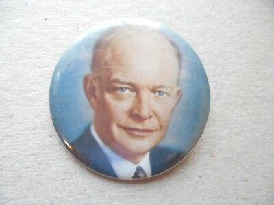 Presidential Pin Back Campaign Button Dwight Eisenhower IKE President Badge 1952