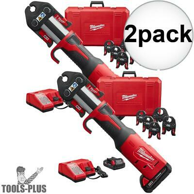 "Milwaukee 2773-22 1/2"" - 2"" M18 Force Logic Press Tool Kit 2x New"