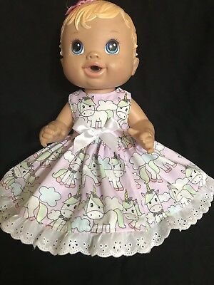 Dolls clothes made to fit 32cm Little Baby Born Dolls.(Sm) Sleeveless Dress