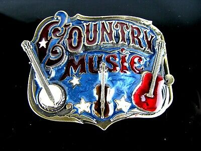 The Great American Buckle CO. Country Music Belt Buckle