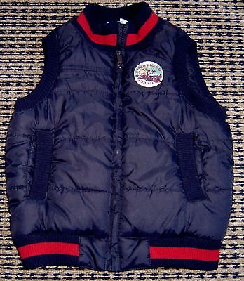 Pumpkin Patch Boys Black Puffer Vest Sz 5