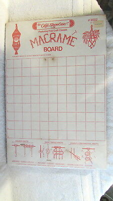 "Vintage New Craft Showcase 11"" x 16"" Cork Macrame Board w Knots Instructions"