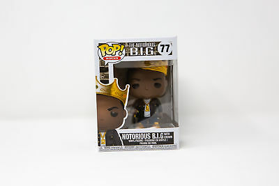 Funko Pop Rocks Notorious B.I.G BIG with Crown #77 31550 | IN STOCK | FAST SHIP!