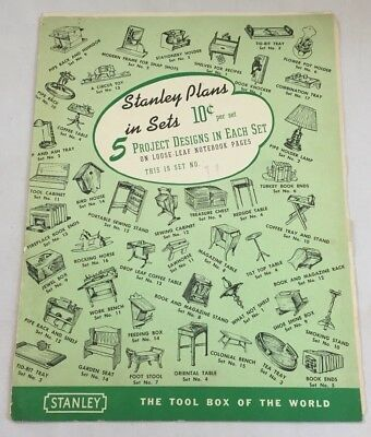 Vintag 1940s Stanley Adirondack Lazy Deck Chair Plans Woodworking Building 3206F