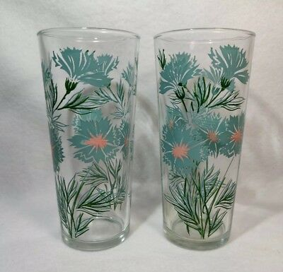 """2 VTG Taylor Smith Taylor Boutonniere Ever Yours tumblers  6 1/2"""" glasses 14 oz"""