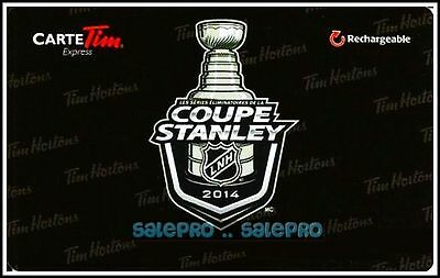 Tim Horton Coffee Hockey Coupe Stanley Cup Rechargable Collectible Gift Card