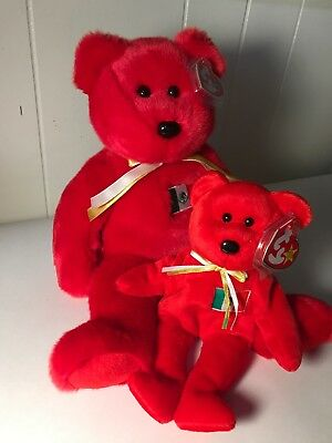 Ty Beanie Baby and Buddy Osito Mexican Flag Bear 1999 MWMT Mexico