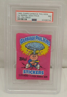TOPPS Garbage Pail Kids 1st Series Sealed Wax Pack PSA Grade 7