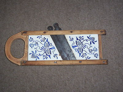 Old vegetable cutter - 1920s-30s, porcelain, blue cornflower print