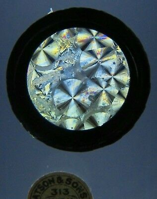 Antique Microscope Slide by Watson. Chemical Crystals. Salicine for Polariscope.