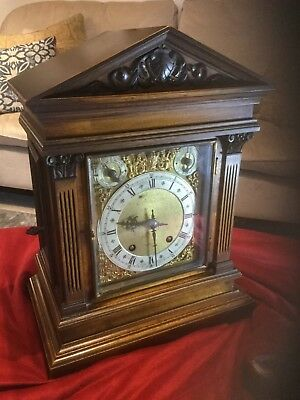 Winterhalder Hofmeier And W. H German Ting Tang Bracket/ Mantle Clock
