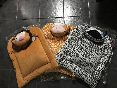 Large Cat Kitten Dog Puppy Bed Toy Acticat With Catnip Zebra Lion or Giraffe