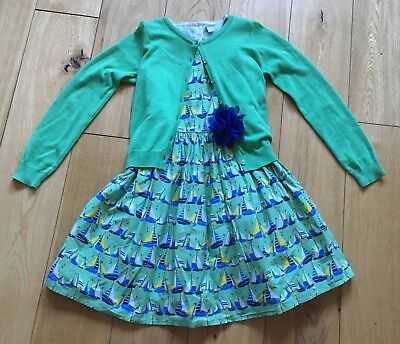 Girls Sailing Green Dress And Cardigan Outfit Aged 11 Years