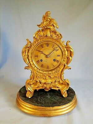 Fine Quality French Ormolu Clock Of Small Size C1860.