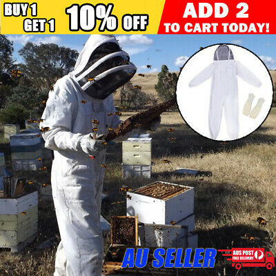 Beekeeping Beekeeper suit Heavy Duty with Protective Gloves Full Body Cover Set