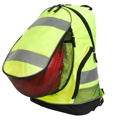 SHUGON DRAWSTRING BAG BACKPACK SCHOOL REFLECTIVE HI VIZ VIS SAFETY BOYS GIRLS