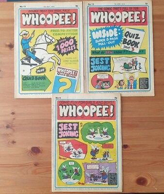WHOOPEE COMIC Nos 4, 11 and 13 from 1974