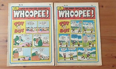 WHOOPEE COMIC Nos 18 and 19 from 1974