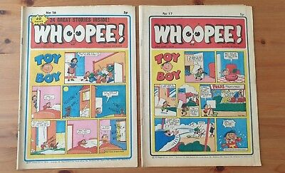 WHOOPEE COMIC Nos 16 and 17 from 1974
