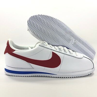 new concept 3d853 246f1 NIKE CORTEZ BASIC Leather OG Forrest Gump White Red Blue 882254-164 Men's  11.5