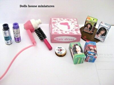 Bathroom  Accessories Hairdryer  Ect  Dolls House Miniatures