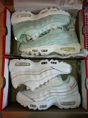 low priced e2bcf 743a6 NIKE WMNS AIR MAX 95 Set SE PREMIUM Gr. 36 Weiß Blau Rot Gelb Mint
