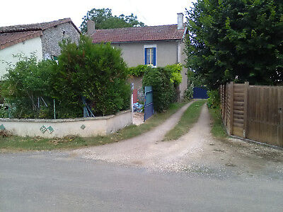 Detached French House barn + land, France, Biarge, Chaunay. Near Civray, 3km N10
