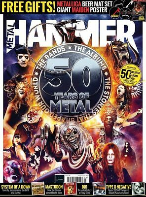 Metal Hammer Magazine MAR 2019: GHOST + Metallica Beer Mats - Iron Maiden Poster