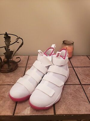 6a8a596024d NIKE LEBRON SOLDIER 10 Think Pink Kay Yow Breast Cancer Awareness ...