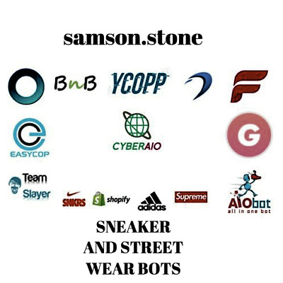 Sneaker Bot Pack 10 BOTS!!!-Forcecop, CyberAIO, GHOST, Dashe, ANB AIO..
