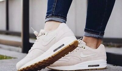 """NIKE AIR MAX 1 SD Suede """"BEIGE/ Oatmeal"""" Trainers UK 8 EUR 42.5 US ..."""