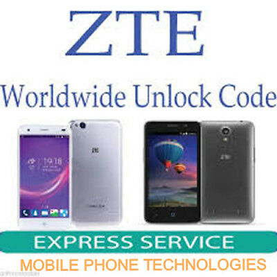 Unlock Code Unlocking Sim Network Unlock Pin ZTE GENERIC Fast Service Worldwilde