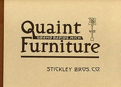 1912 Stickley Brothers Quaint Furniture Catalog - New, direct from Publisher