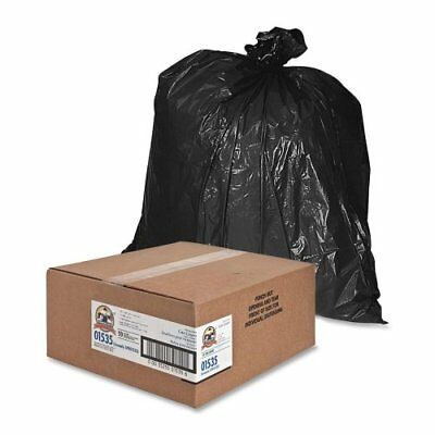"Genuine Joe Heavy Duty Trash Bag - 60 Gal - 56"" X 39"" - 1.50 Mil [38 µm]"