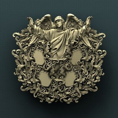 3d STL Model Relief for CNC Router Aspire _ (0395) Angel