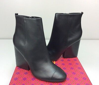 a1ff5b76657b TORY BURCH Grove 100 MM Bootie Ankle Boots size 10 Black Leather Block Heel