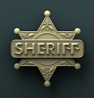 3d STL Model Relief for CNC Router Aspire _ (0412) Sheriff