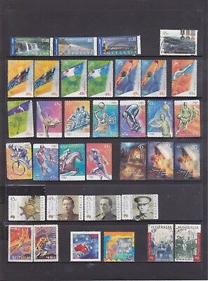 2000-2003 Australian-173 used stamps including International Post and Sheet