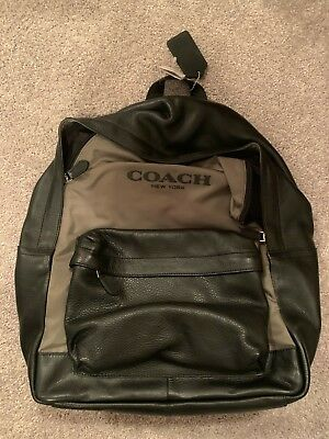 1dac6df1f MEN'S COACH CAMPUS BACKPACK Black / Surplus ( Olive green) F71674 Brand New  NWT