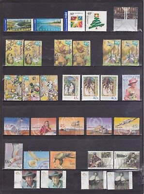2001 Australian-61 used stamps including International Post and Sheet Stamps