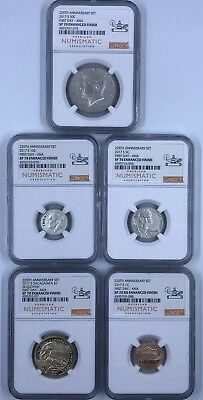 2017-S US Mint 225TH Anniversary Enhanced NGC SP70 First Day ANA 10 Coin Set!