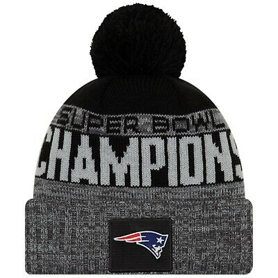 2019 New England Patriots New Era Knit Super Bowl LIII Champions Parade Hat Cap
